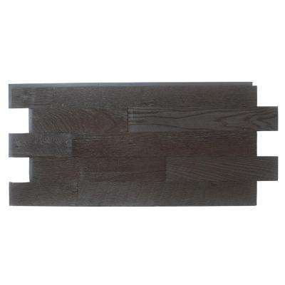 Faux Barnwood Panel 1-1/4 in. x 52-1/4 in. x 23 in. Double Espresso Polyurethane Interlocking Panel