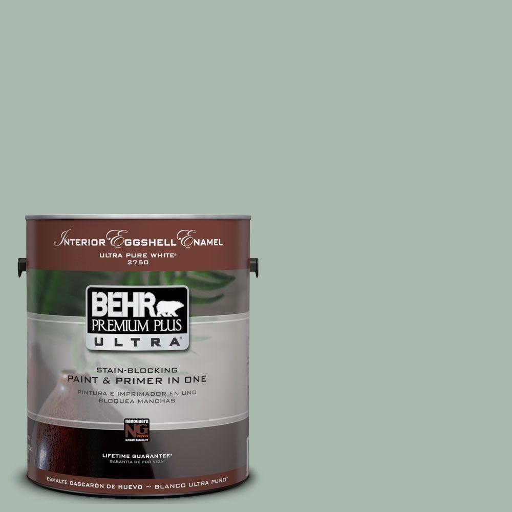 BEHR Premium Plus Ultra 1-Gal. #UL220-14 Zen Interior Eggshell Enamel Paint