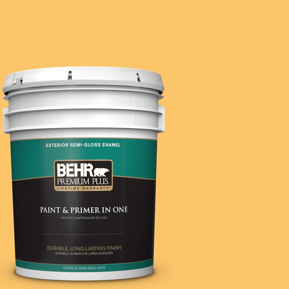 5 gal. #PPU6-06 Honey Locust Semi-Gloss Enamel Exterior Paint