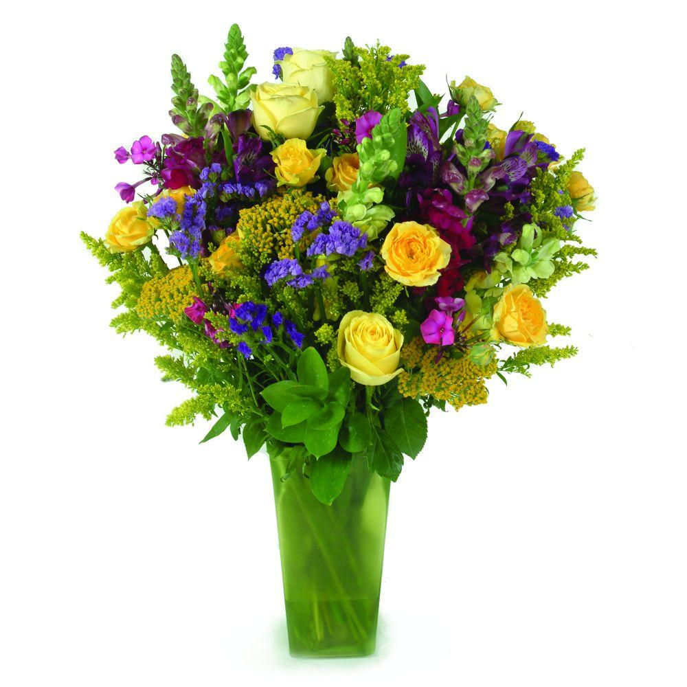 The Ultimate Bouquet Saint Patrick's Day Bouquet - Gorgeous Fresh Cut Flower Bouquet in a Green Vase Overnight Shipping Included-DISCONTINUED