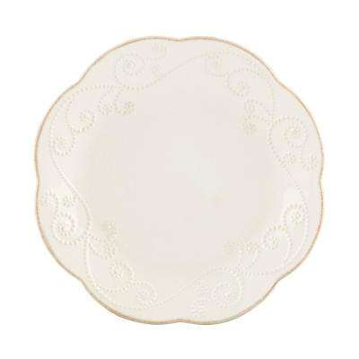 French Perle White Dessert Plates (Set of 4)