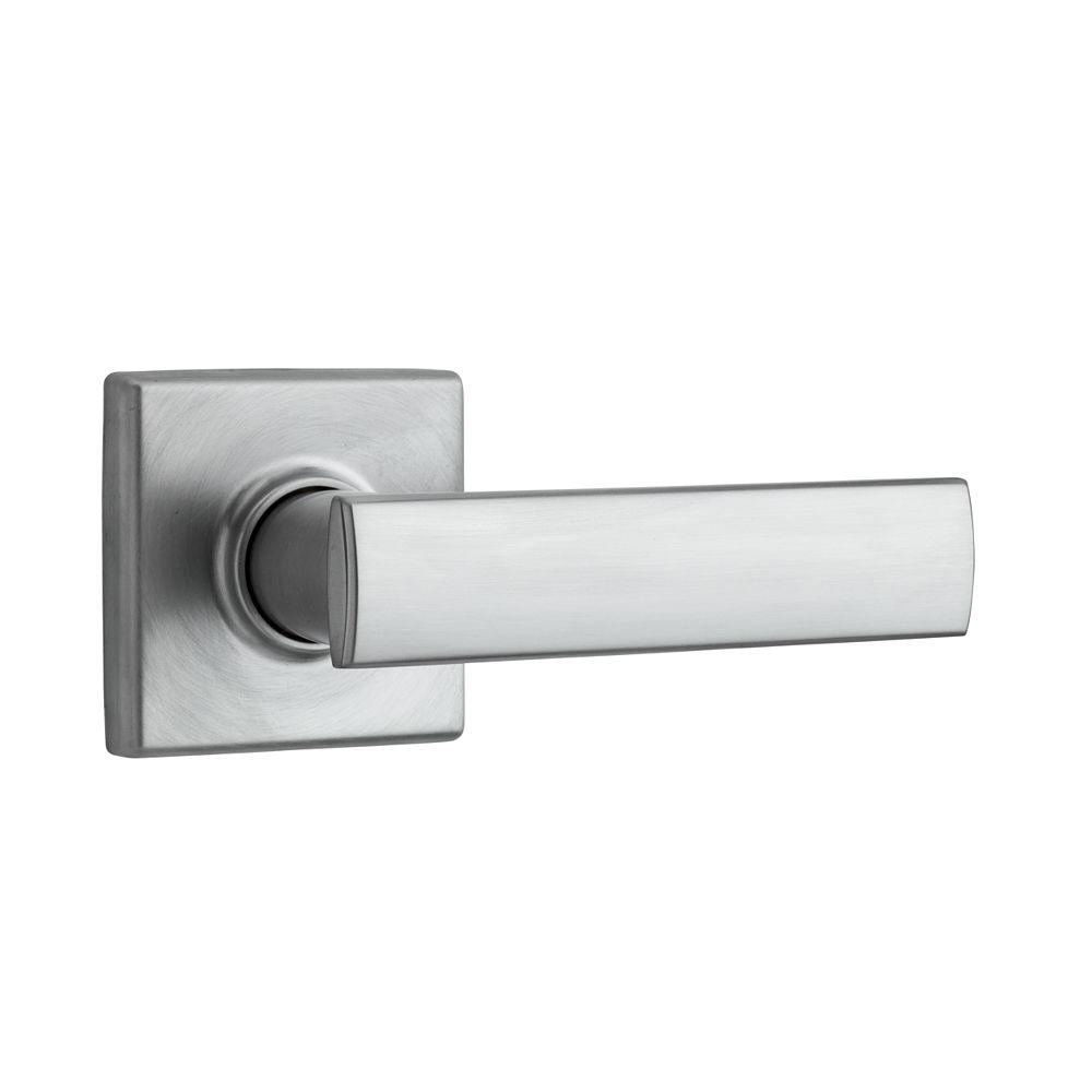 Vedani Square Satin Chrome Half-Dummy Door Lever