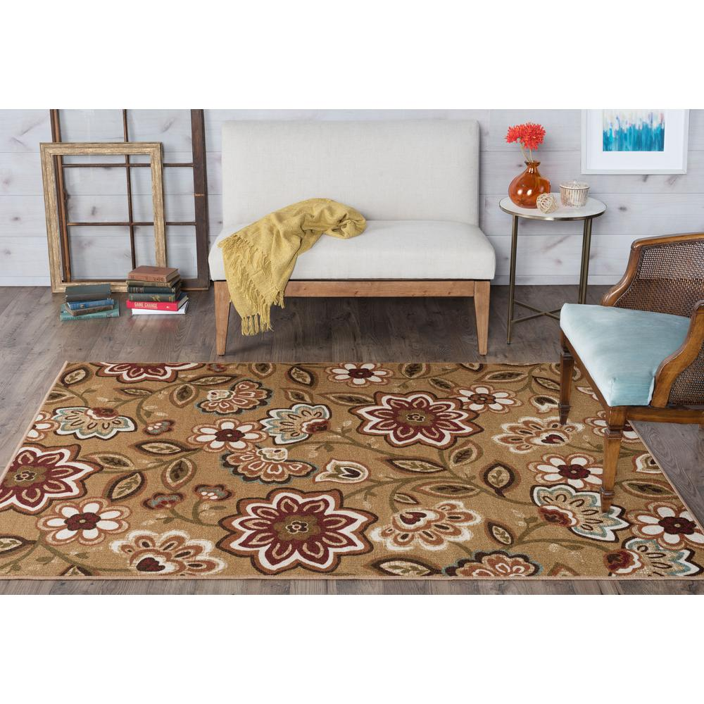 Majesty Beige 5 ft. x 7 ft. Transitional Area Rug