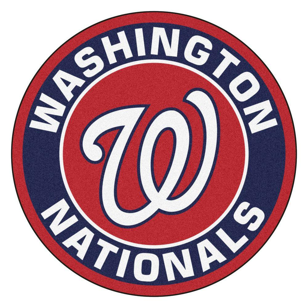 Fanmats Mlb Washington Nationals Navy 2 Ft 3 In X 2 Ft