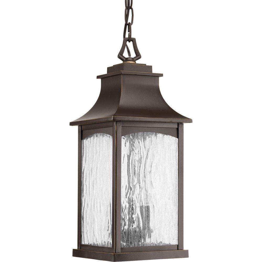 Progress Lighting Maison Collection 2 Light Outdoor Oil Rubbed Bronze Hanging Lantern P6532 108