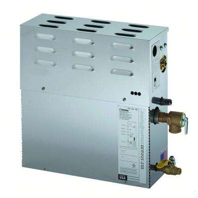 45kW Steam Bath Generator with Steam Start Control and Steam Head in Polished Chrome