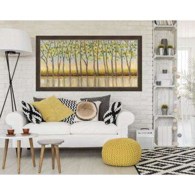 "30 in. x 55 in. ""Canopy of Trees"" Landscape by Libby Smart Textured Paper Print Framed Wall Art"