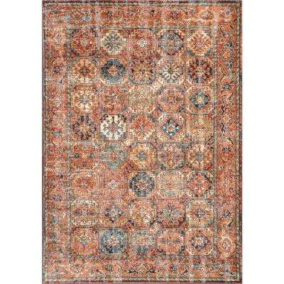 Nadie Transitional Orange 8 ft. x 10 ft. Area Rug