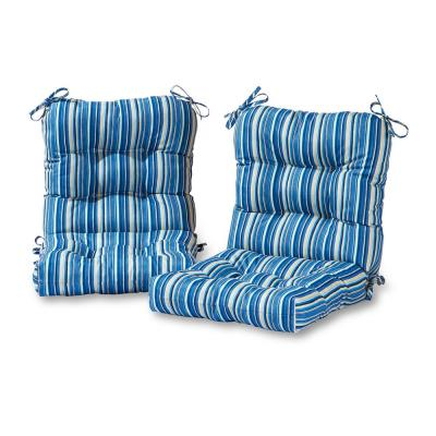 Sapphire Stripe Outdoor Dining Chair Cushion (2-Pack)