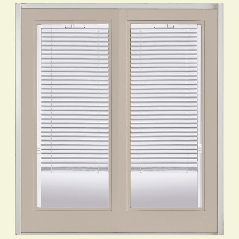 masonite 60 in x 80 in canyon view prehung right hand inswing mini - 60 Patio Door
