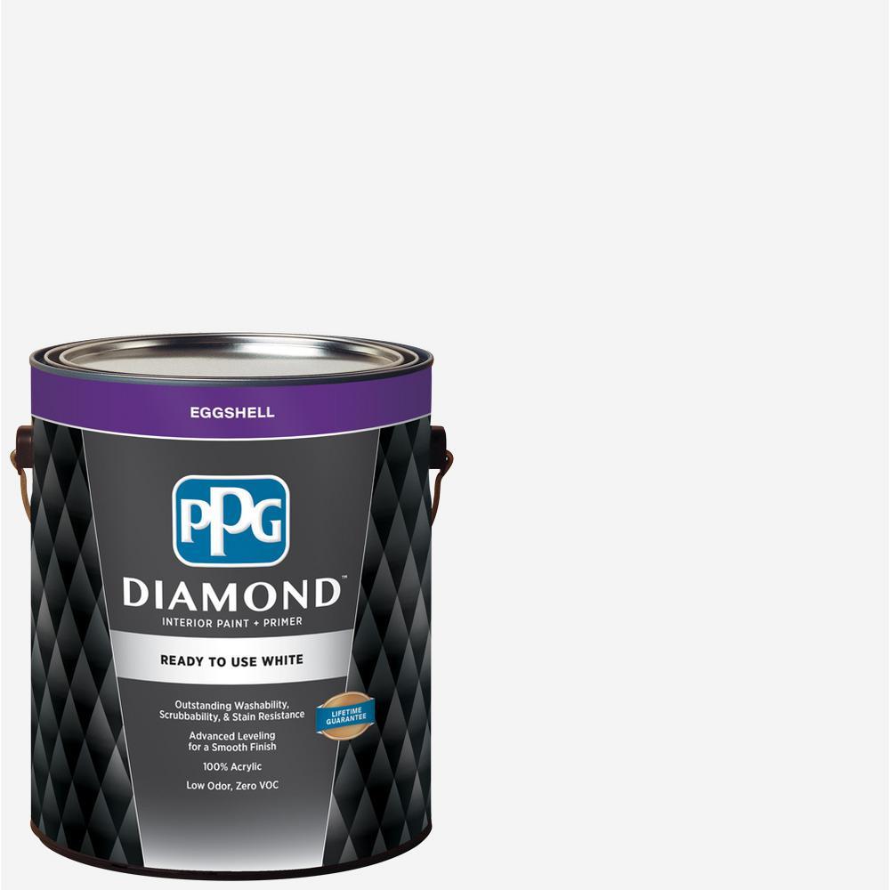 Ppg diamond 1 gal white eggshell ready to use interior - Eggshell vs semi gloss ...