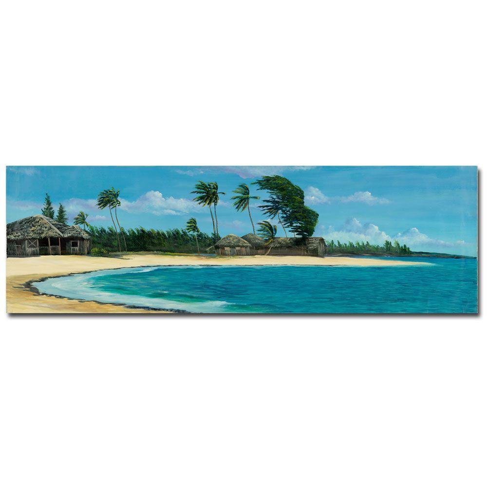 Trademark Fine Art 10 in. x 32 in. Paisage Tropical II Canvas Art