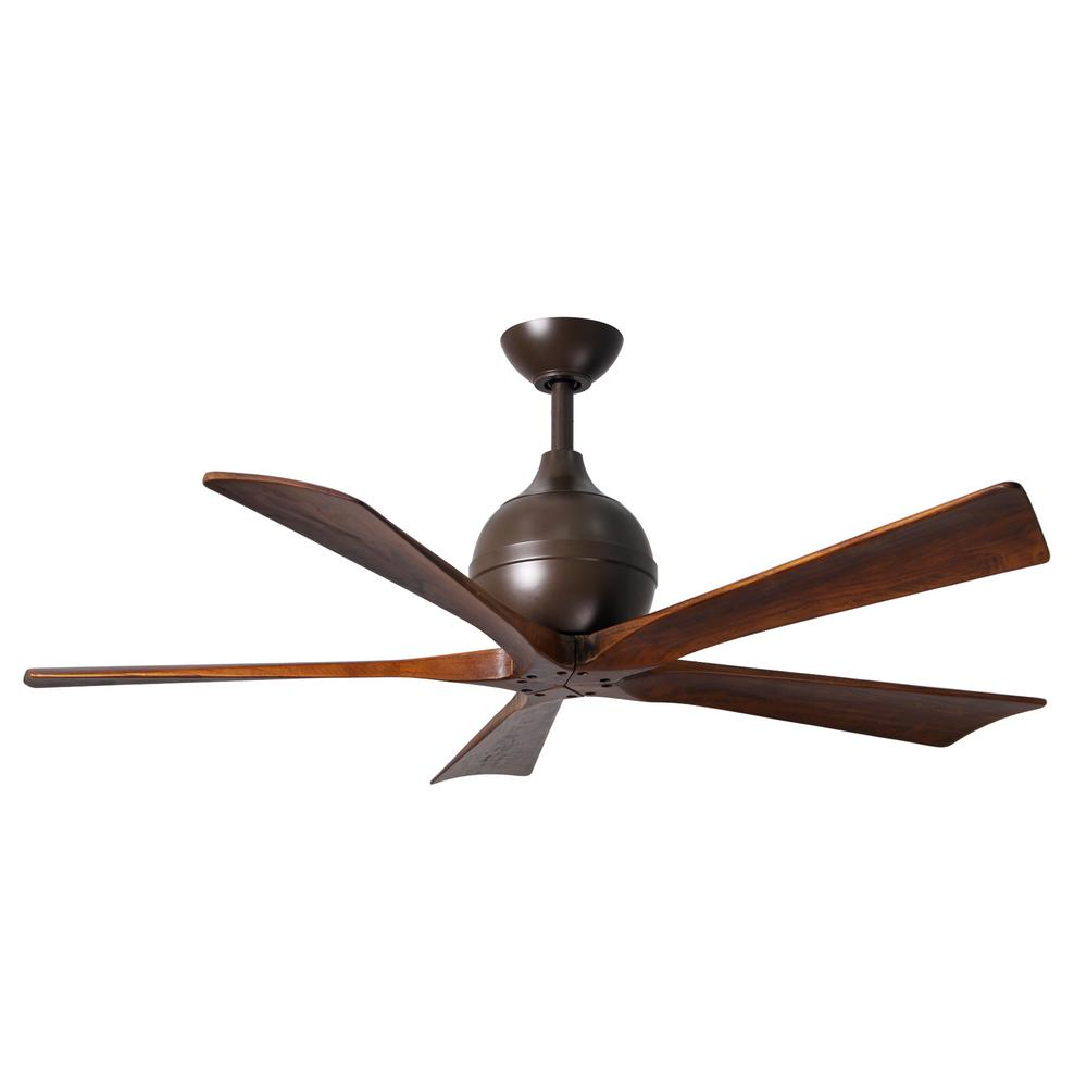Atlas Irene 42 in. Indoor/Outdoor Textured Bronze Ceiling Fan with Remote Control and Wall Control