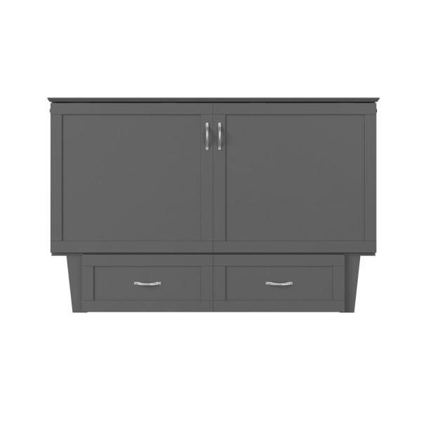 Monroe Murphy Atlantic Grey Queen Bed Chest with Charging Station