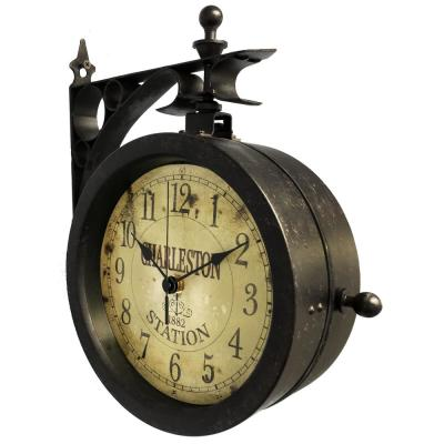 Charleston 8 in. x 8 in. Round Outdoor Wall Clock