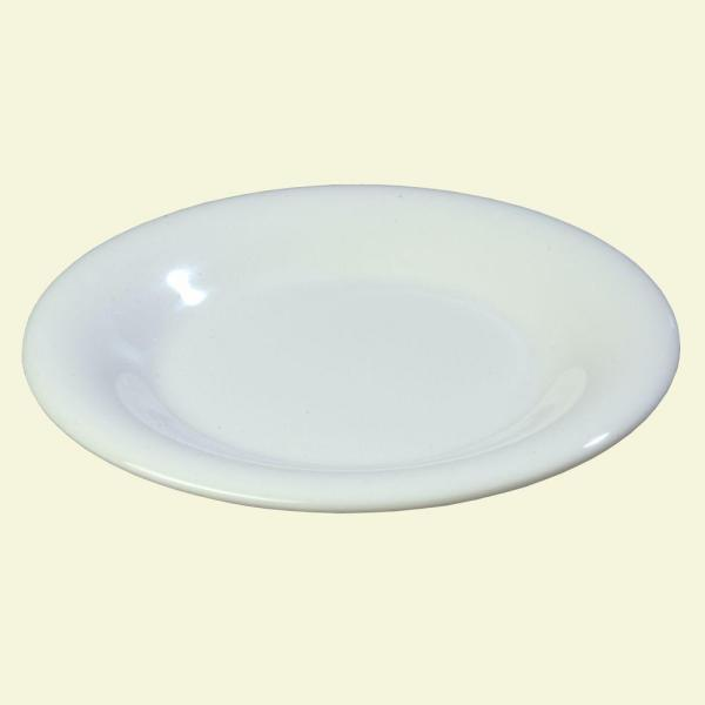 Carlisle 7.5 in. Diameter Melamine Wide Rim Salad Plate in White