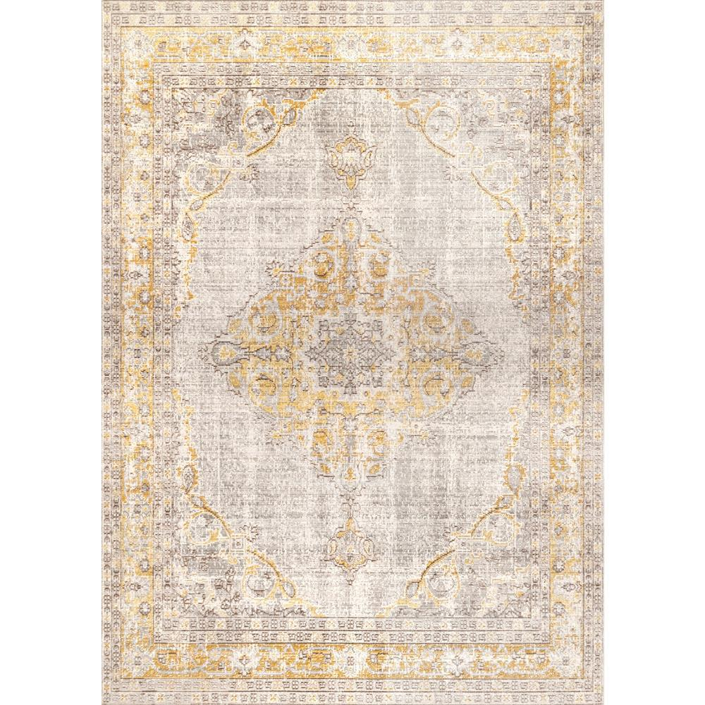 Nuloom Brenda Vintage Light Gray 6 Ft X 8 Ft Area Rug Psje07a 56083 The Home Depot