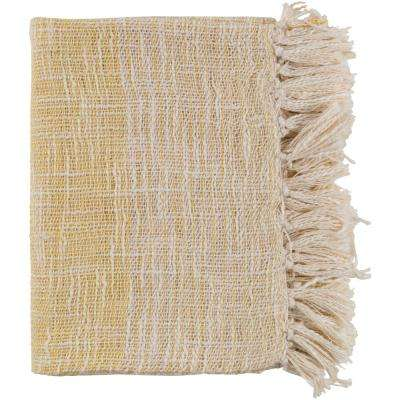 Erindale Bright Yellow Cotton Blend Throw