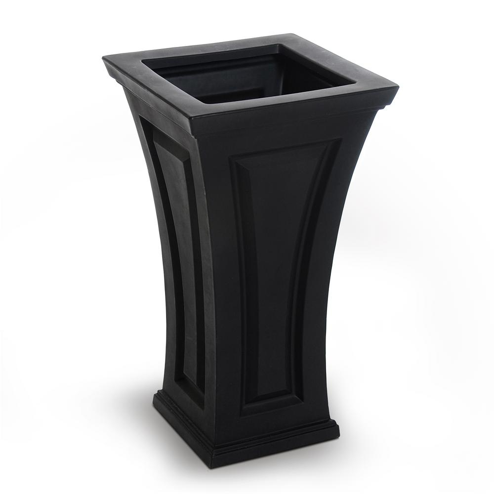 garden column products compare mayne planters tall plastic in prices cambridge shopping home planter square outdoor nextag at b black