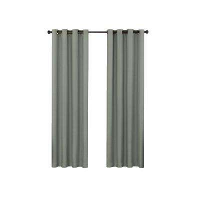 Bryson 52 in. W x 95 in. L Blackout Window Panel in Celadon