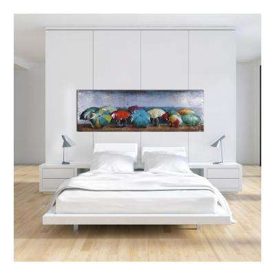 "23 in. x 70 in. ""Under the Sunbrella"" Metal Wall Art"