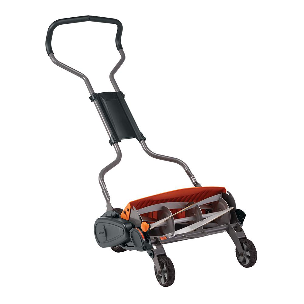 Fiskars 18 in  Cut Manual Push Non-Electric Walk Behind Reel Mower