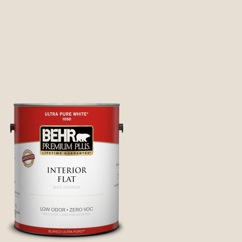1 gal. #73 Off White Flat Zero VOC Interior Paint and