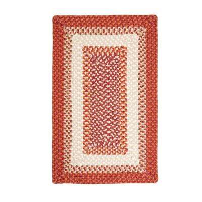 Blithe Red 2 ft. x 4 ft. Braided Area Rug