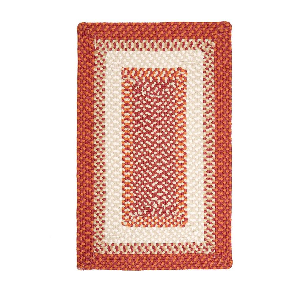 Blithe Red 3 ft. x 5 ft. Rectangle Braided Area Rug