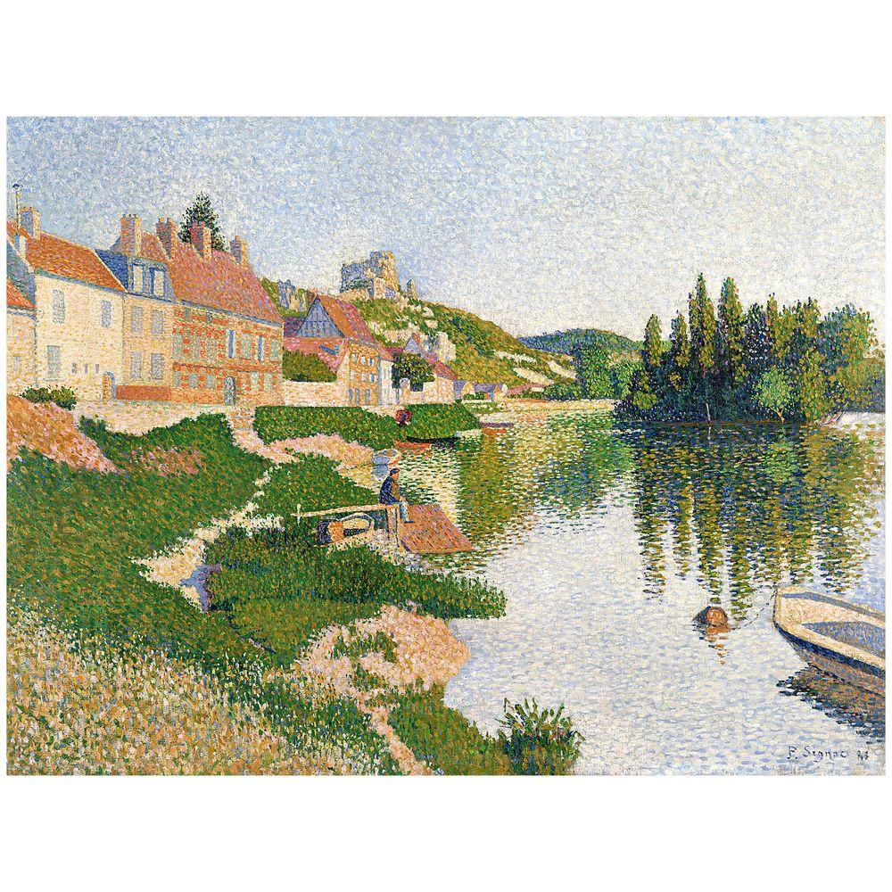 26 in. x 32 in. River Bank Petit-Andely 1886 Canvas Art