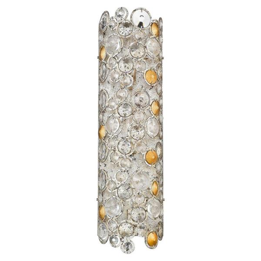 Vitozzi 3-Light Antique Silver Leaf Sconce