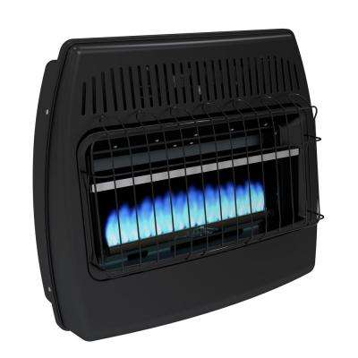 30,000 BTU Blue Flame Vent Free Dual Fuel Garage Heater