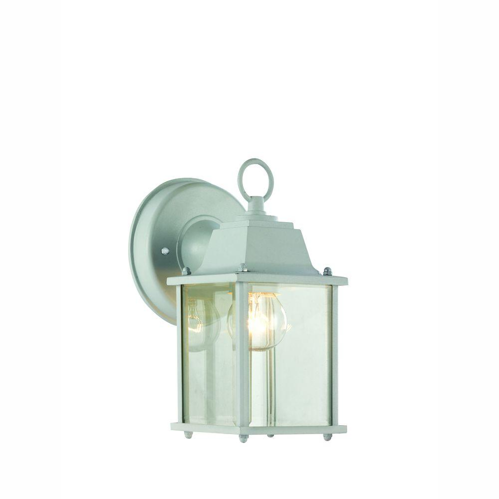 Porch Light White: Bel Air Lighting Wall Mount 1-Light Outdoor White Coach