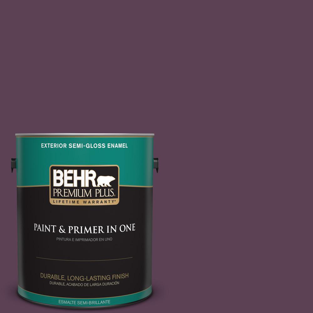 1 gal. #PPU17-03 Vixen Semi-Gloss Enamel Exterior Paint