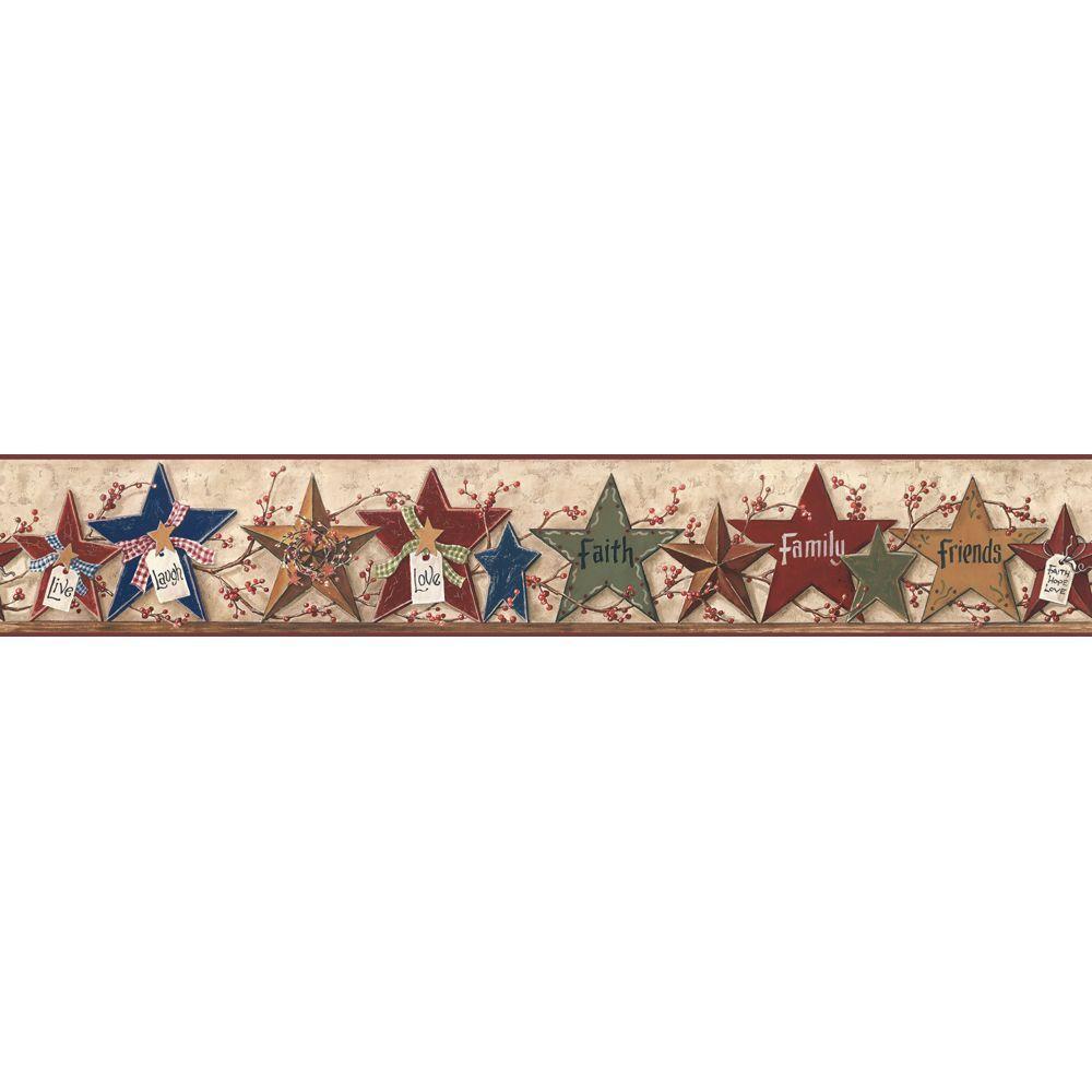 Decorative Stars Wallpaper Border