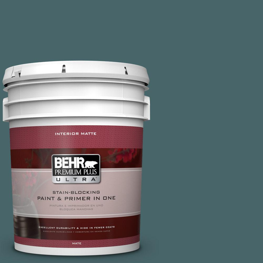 5 gal. #500F-7 Mythic Forest Flat/Matte Interior Paint