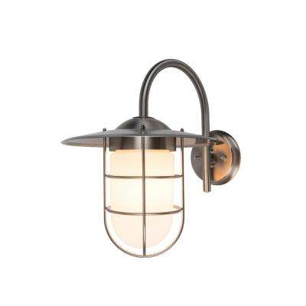 Coastal Boston 1-Light 304 Stainless Steel Outdoor Wall Mount Lantern