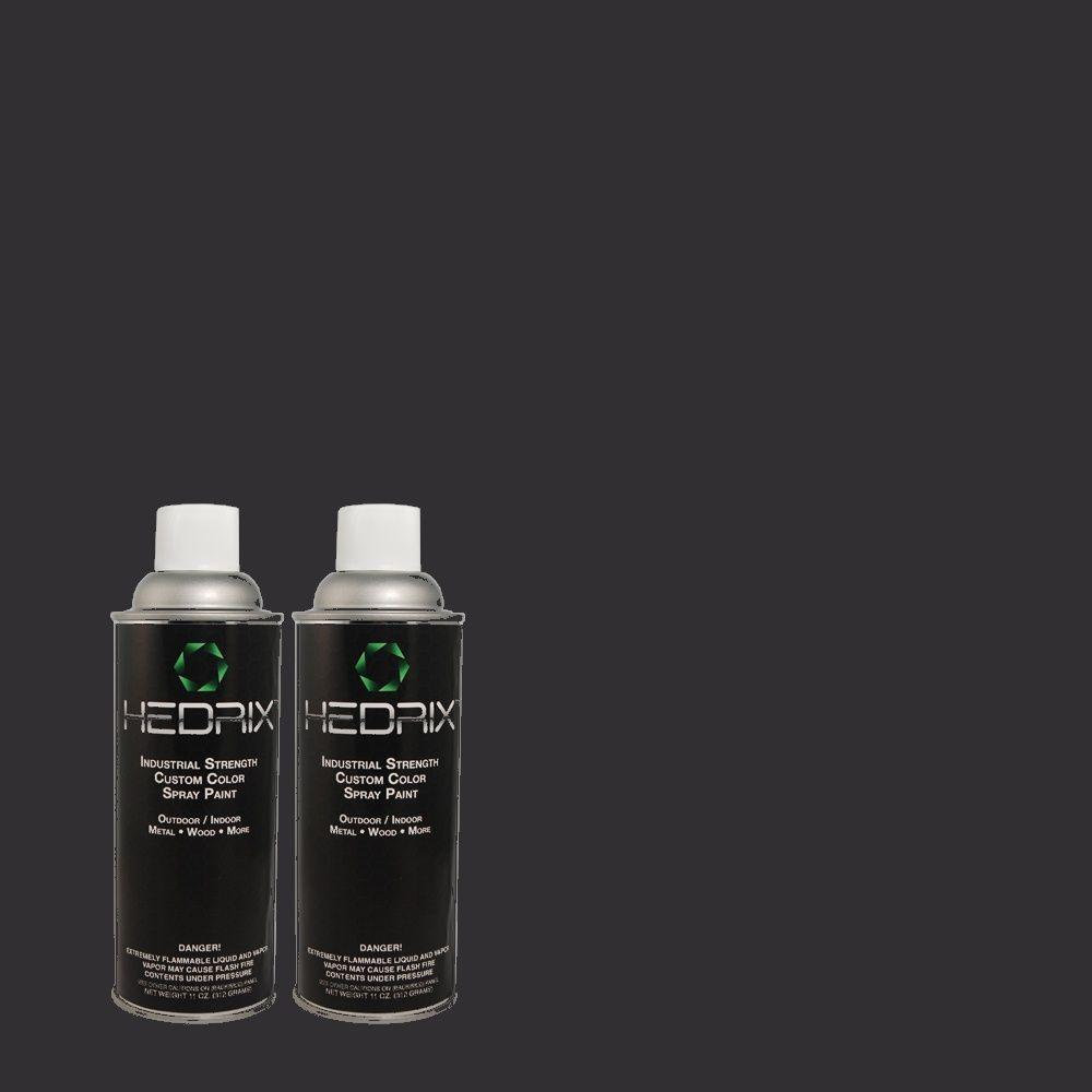 Hedrix 11 oz. Match of ECC-23-3 Blackbird Semi-Gloss Custom Spray Paint (2-Pack)
