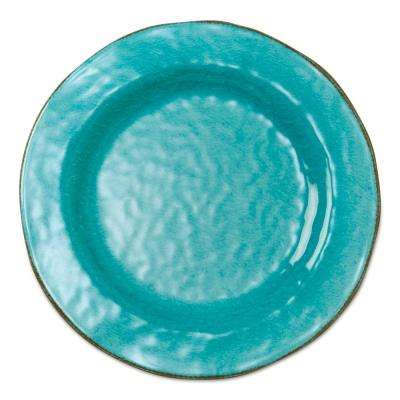 10-3/4 in. Ocean Blue Veranda Melamine Dinner Plates (Set of 4)