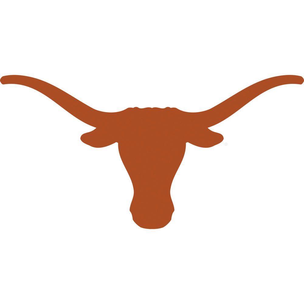 Fathead 51 in. x 26 in. Texas Longhorns Logo Wall Decal