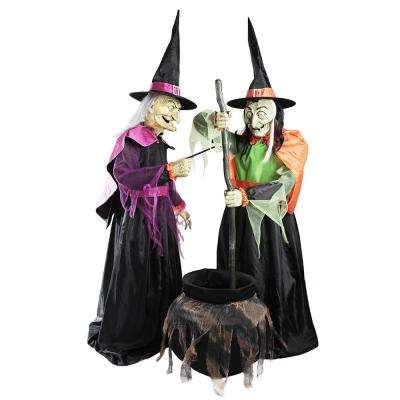 72 in. Wicked Cauldron Witches