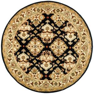 Safavieh Heritage Espresso Ivory 8 Ft X 8 Ft Round Area Rug Hg817b 8r The Home Depot