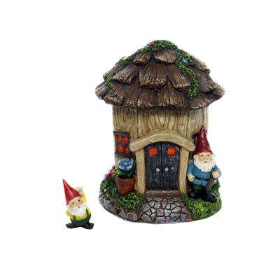 7 in. Tall Stump's Estate Fairy House with Digger Gnome Figurine