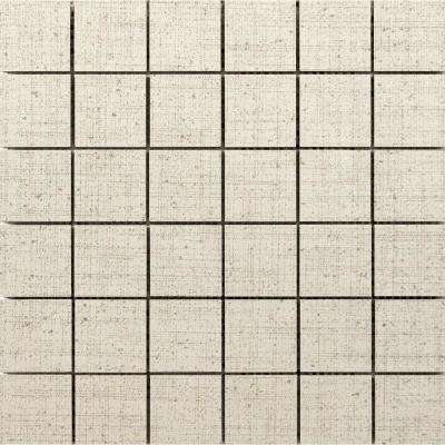 Canvas Angora 11.81 in. x 11.81 in. x 9mm Porcelain Mesh-Mounted Mosaic Tile (0.97 sq. ft.)