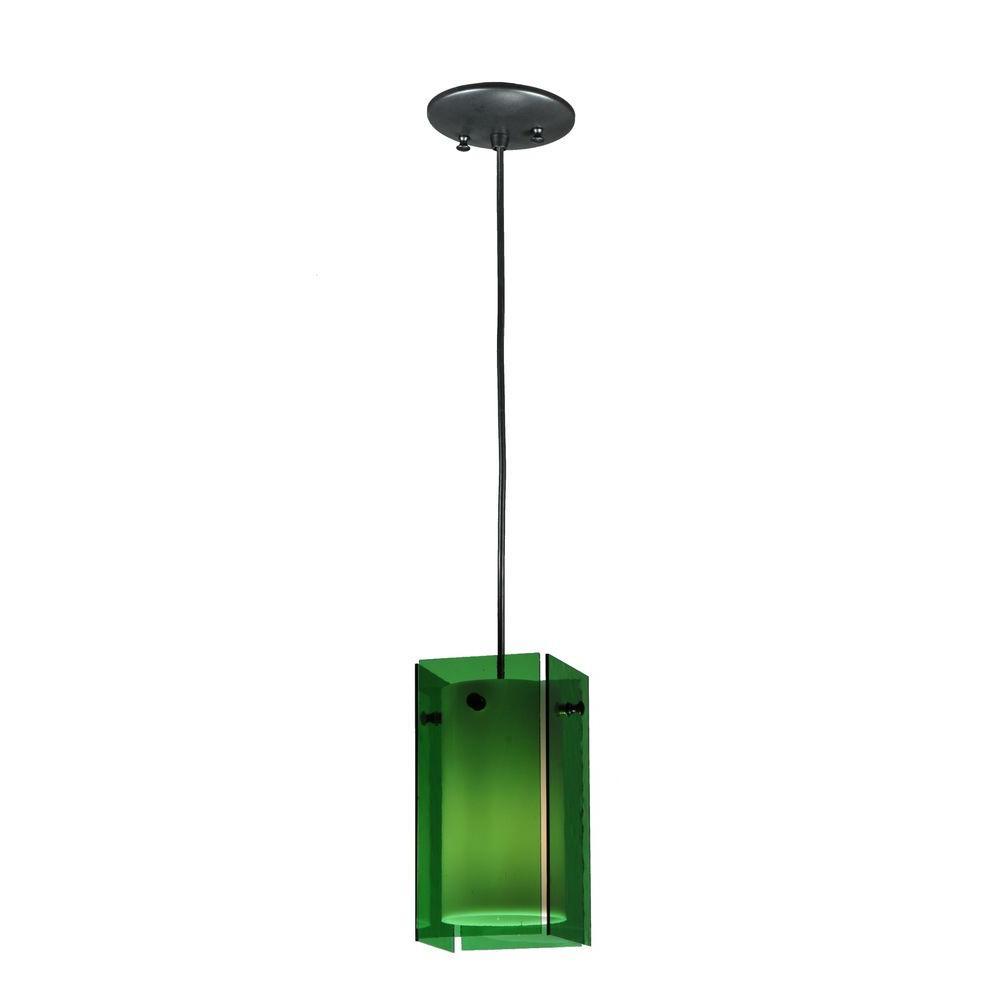 Illumine 1 Light Green Mini Pendant