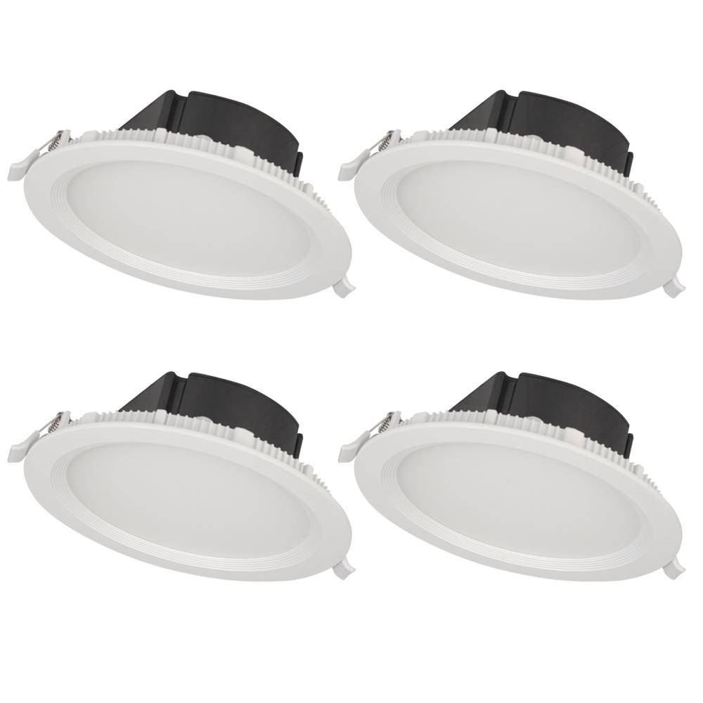 BAZZ 4 in. Top Box Slim Matte White Integrated LED Recessed ...
