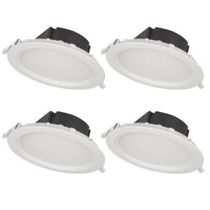 BAZZ 4 inch Top Box Slim Matte White Integrated LED Recessed Fixture Kit... by BAZZ