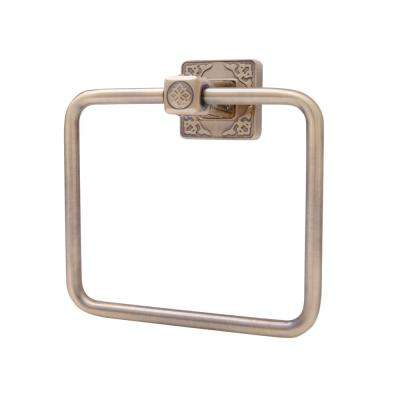 Reno Series Towel Ring in Antique Brass