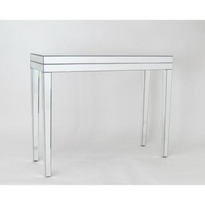 Clear Beveled Mirror Table