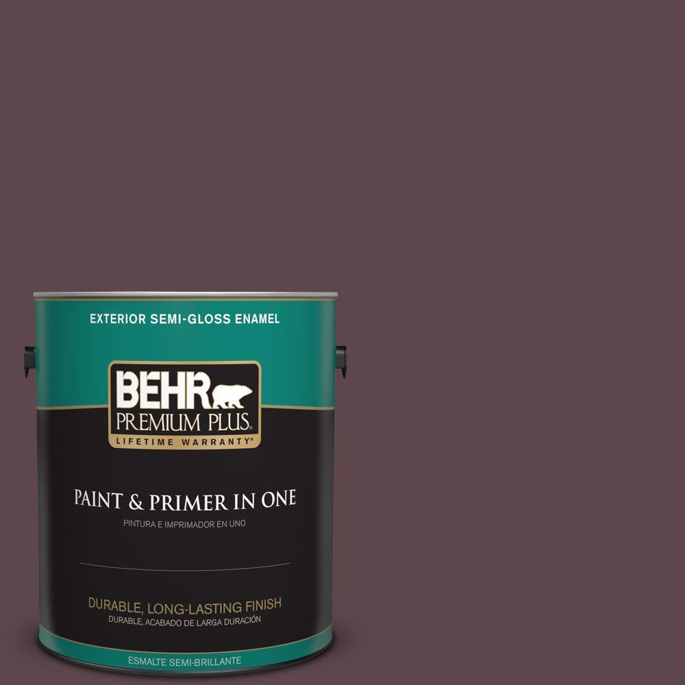 1-gal. #100F-7 Deep Aubergine Semi-Gloss Enamel Exterior Paint